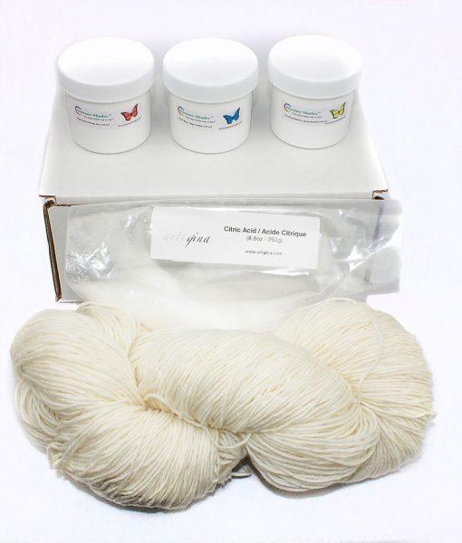Mini Kit de départ de teinture à laine Greener Shades