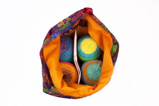 Sac à tricot avec pochette de rangement - Tatous (Grand)