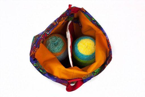 Sac à tricot avec pochette de rangement - Tatous (Moyen)