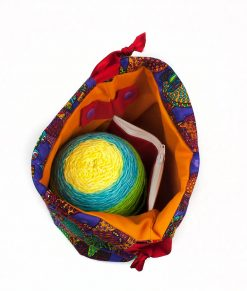 Sac à tricot avec pochette de rangement - Tatous (Petit)