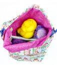Sac à tricot avec pochette de rangement – Hiboux – Grand (Artigina)