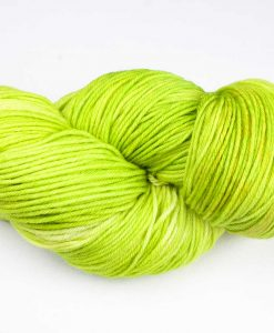 Laine teinte à la main - Worsted cachemire - Vert printemps - Artigina