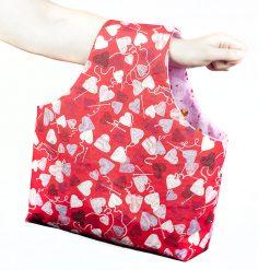 Sac à tricot (sac à bras) - Coeur de laine - fait main par Artigina
