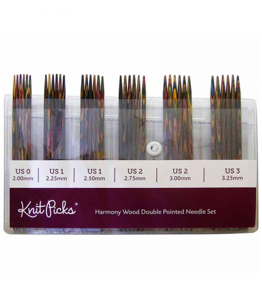 Ensemble d'aiguilles à double pointes Rainbow Wood de Knit Picks
