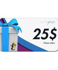 Chèque cadeau de 25$ Artigina