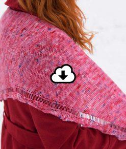 Patron de tricot - Châle - Sorbet - À la maille suivante
