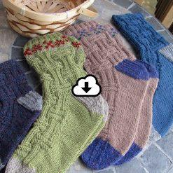 Patron de tricot - Bas champêtres de l'Univers d'une tricoteuse - Isabelle Allard - Artigina