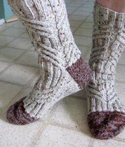Patron de tricot - Bas conifères de l'Univers d'une tricoteuse - Isabelle Allard - Artigina