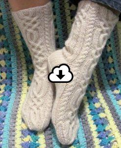 Patron de bas - Trinité de l'Univers d'une tricoteuse - Isabelle Allard - Artigina