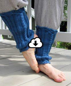 Patron de jambières - touche de treillis de l'Univers d'une tricoteuse - Isabelle Allard - Artigina
