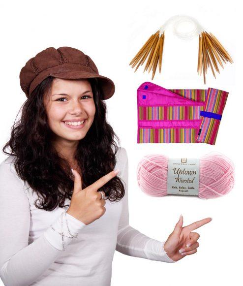 Kit de tricot pour débutant - Je commence le tricot aux aiguilles - Artigina