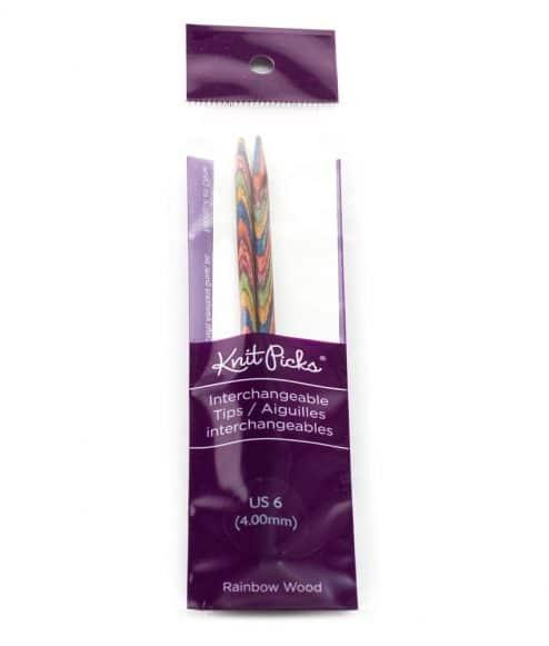 Embouts aiguilles circulaires interchangeables Knit Picks - Rainbow Wood