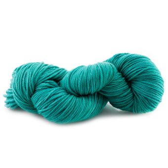 Laine teinte à la main (worsted) - Touski Turquoise - Artigina