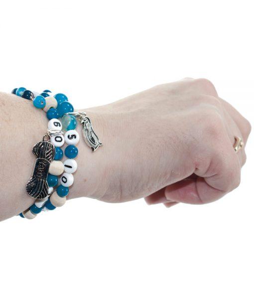 Bracelet compte rangs - fait main - Artigina