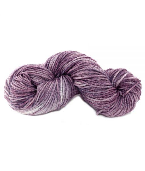 Laine teinte à la main (Worsted) Vitoli - Violette africaine - Artigina