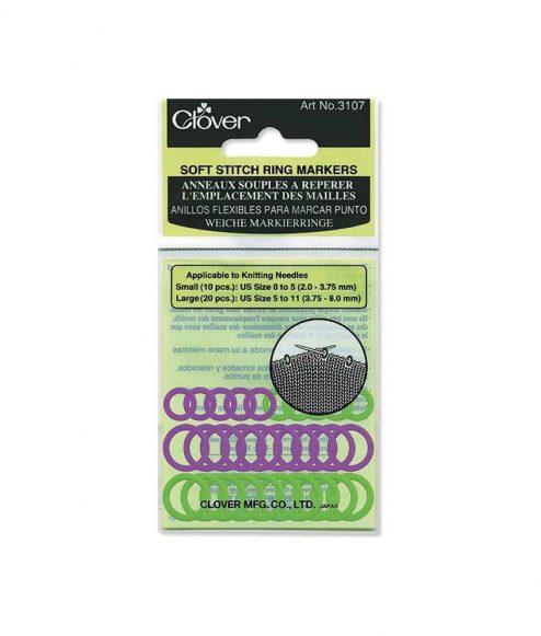 Marqueurs de mailles souples de Clover - Artigina