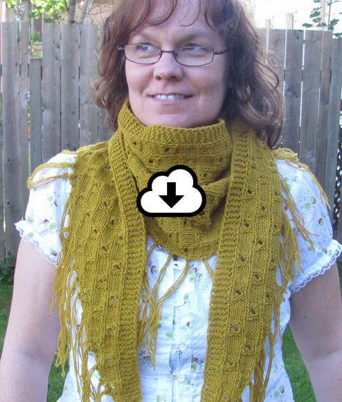 Patron de tricot - Foulard Sénevé - L'univers d'une tricoteuse