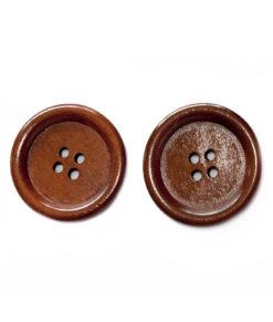 Bouton de bois | Brun 4 trous, 3cm, 3mm d'épaisseur