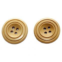Bouton de bois   Brun clair 4 trous, 3cm, 3mm d'épaisseur