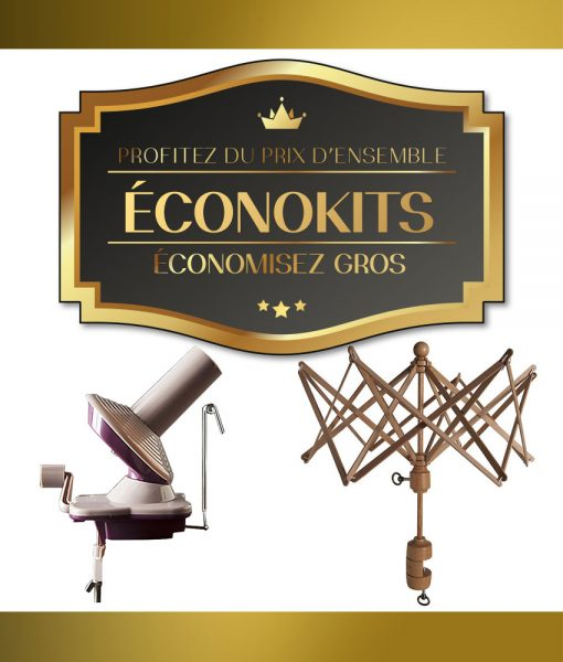 Éconokits - Ensemble bobineuse et parapluie à laine Knit Picks - Artigina