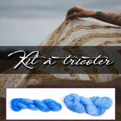 Kit à tricoter - Birds of a feathers - Andrea Mowry - Mohair bleu