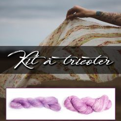 Kit à tricoter - Birds of a feathers - Andrea Mowry - Mohair violet