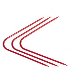 Aiguilles à double pointes courbées en plastique rouge - Artigina