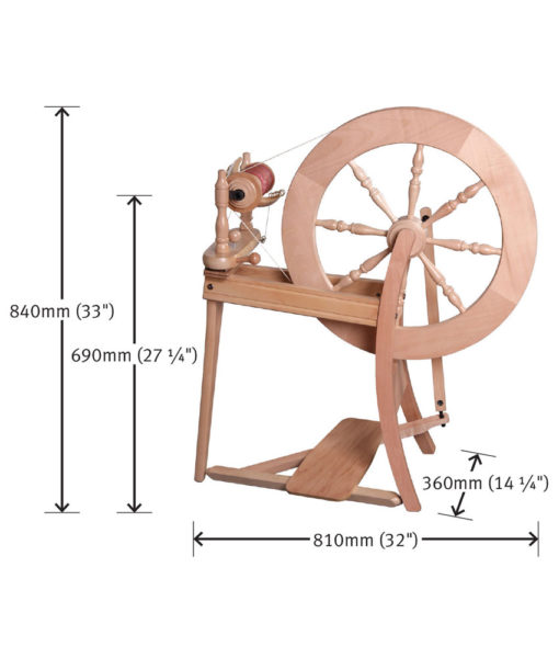 Rouet Traditional (Spinning Wheel) - Single drive - Ashford