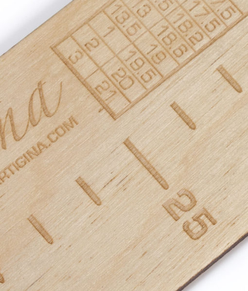 Règle à bas en bois - Artigina