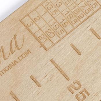 Règle à bas en bois Artigina (charte enfants)