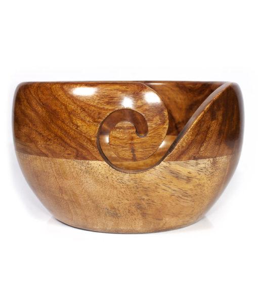 """Bol à laine en bois - Acacia et manguier 15 cm (6"""") - Artigina"""