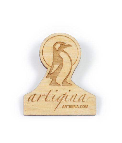 Épinglette (pin) en bois Artigina