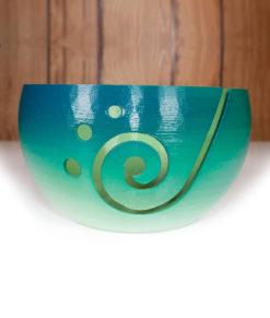 Bol à laine en impression 3D - Dégradé turquoise à vert