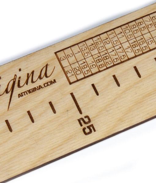 Règle à bas en bois suprême - Artigina
