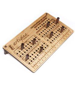 Calculateur de tricot en bois véritable Artigina